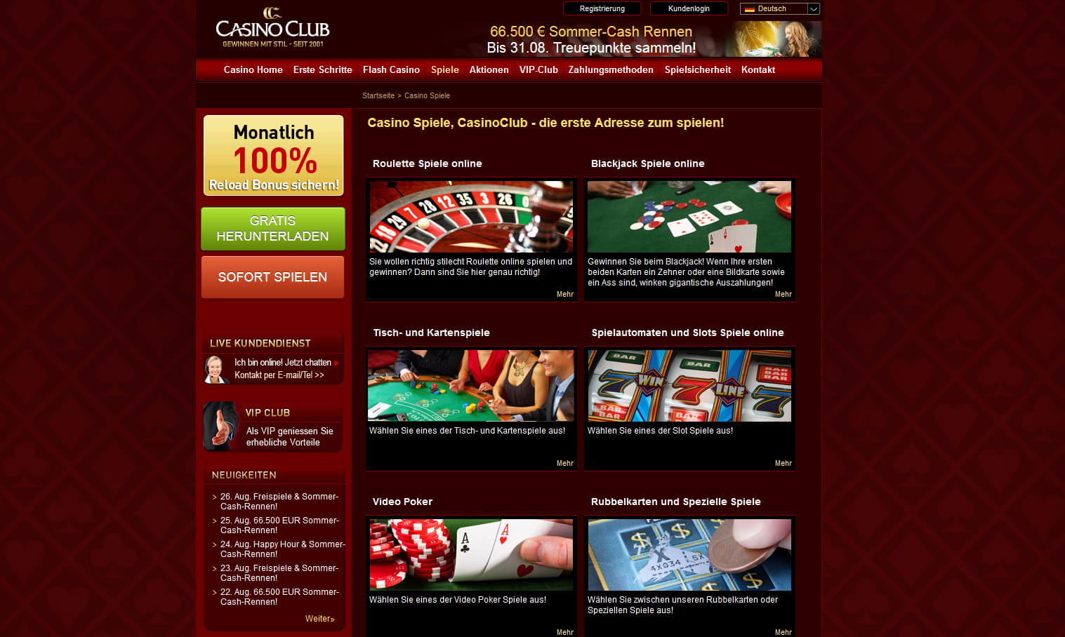 New casino games 1663